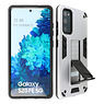 Stand Hardcase Backcover Samsung Galaxy S20 FE Zilver