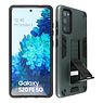 Stand Hardcase Backcover Samsung Galaxy S20 FE Donker Groen