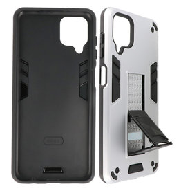 Stand Hardcase Backcover Samsung Galaxy A12 Zilver
