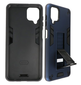 Stand Hardcase Backcover Samsung Galaxy A12 Navy