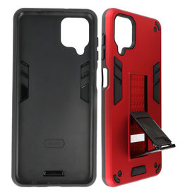 Stand Hardcase Backcover Samsung Galaxy A12 Rood