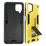 Stand Hardcase Backcover Samsung Galaxy A12 Geel