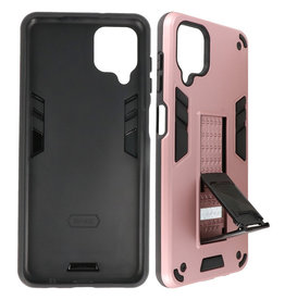 Stand Hardcase Backcover Samsung Galaxy A12 Roze