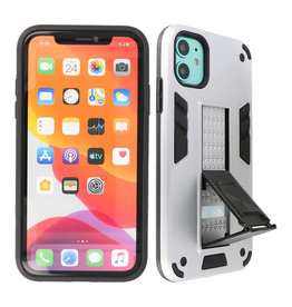 Stand Hardcase Backcover iPhone XR Zilver