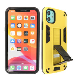 Stand Hardcase Backcover iPhone XR Geel