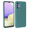 Fashion Color Backcover Hoesje Samsung Galaxy A32 5G Donker Groen