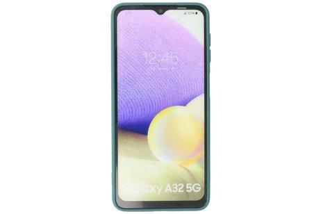 Samsung Galaxy A32 5G Hoesje Fashion Backcover Telefoonhoesje Donker Groen