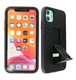 Stand Hardcase Backcover iPhone XR Zwart