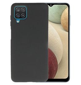 Samsung Galaxy A12 Hoesje Fashion Backcover Telefoonhoesje Zwart