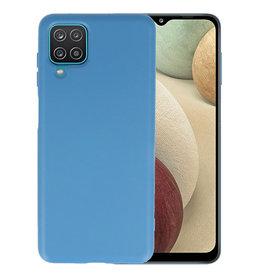 Samsung Galaxy A12 Hoesje Fashion Backcover Telefoonhoesje Navy