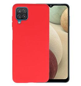 Samsung Galaxy A12 Hoesje Fashion Backcover Telefoonhoesje Rood