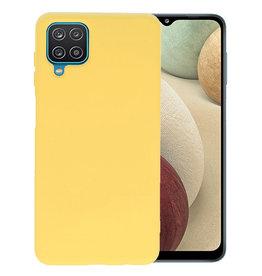 Samsung Galaxy A12 Hoesje Fashion Backcover Telefoonhoesje Geel