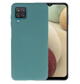 Samsung Galaxy A12 Hoesje Fashion Backcover Telefoonhoesje Donker Groen