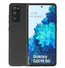 Samsung Galaxy S20 FE Hoesje Fashion Backcover Telefoonhoesje Zwart