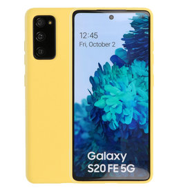 Samsung Galaxy S20 FE Hoesje Fashion Backcover Telefoonhoesje Geel