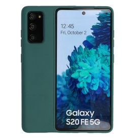 Samsung Galaxy S20 FE Hoesje Fashion Backcover Telefoonhoesje Donker Groen