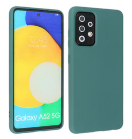 Fashion Color Backcover Hoesje Samsung Galaxy A52 5G Donker Groen