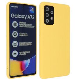 Samsung Galaxy A72 & Galaxy A72 5G Hoesje Fashion Backcover Telefoonhoesje Geel