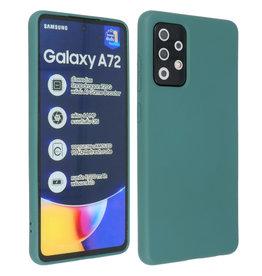 Samsung Galaxy A72 & Galaxy A72 5G Hoesje Fashion Backcover Telefoonhoesje Donker Groen