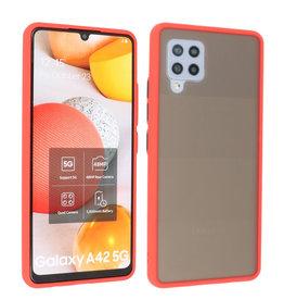 Samsung Galaxy A42 5G Hoesje Hard Case Backcover Telefoonhoesje Rood