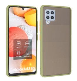 Samsung Galaxy A42 5G Hoesje Hard Case Backcover Telefoonhoesje Groen