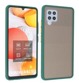 Samsung Galaxy A42 5G Hoesje Hard Case Backcover Telefoonhoesje Donker Groen