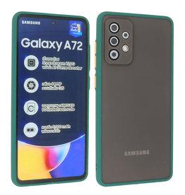 Samsung Galaxy A72 & Galaxy A72 5G Hoesje Hard Case Backcover Telefoonhoesje Donker Groen