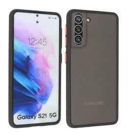 Samsung Galaxy S21 Hoesje Hard Case Backcover Telefoonhoesje Zwart