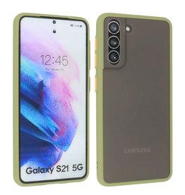 Samsung Galaxy S21 Hoesje Hard Case Backcover Telefoonhoesje Groen