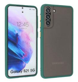 Samsung Galaxy S21 Hoesje Hard Case Backcover Telefoonhoesje Donker Groen