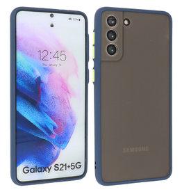 Samsung Galaxy S21 Plus Hoesje Hard Case Backcover Telefoonhoesje Blauw