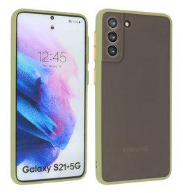 Samsung Galaxy S21 Plus Hoesje Hard Case Backcover Telefoonhoesje Groen