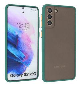 Samsung Galaxy S21 Plus Hoesje Hard Case Backcover Telefoonhoesje Donker Groen