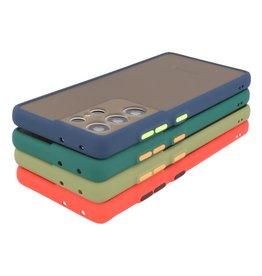 Samsung Galaxy S21 Ultra Hoesje Hard Case Backcover Telefoonhoesje Zwart