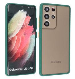 Samsung Galaxy S21 Ultra Hoesje Hard Case Backcover Telefoonhoesje Donker Groen