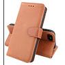Klassiek Design Echt Lederen Telefoonhoesje iPhone SE 2020 Cognac