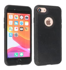 BAOHU Lederen Hoesje Backcover iPhone SE 2020 Zwart