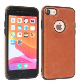 BAOHU Lederen Hoesje Backcover iPhone SE 2020 Cognac