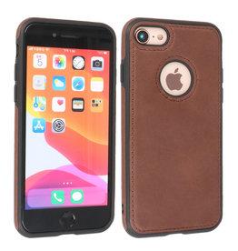BAOHU Lederen Hoesje Backcover iPhone SE 2020 Mocca