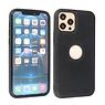 BAOHU Lederen Hoesje Backcover iPhone 12 - 12 Pro Zwart