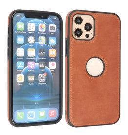 BAOHU Lederen Hoesje Backcover iPhone 12 - 12 Pro Cognac