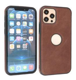 BAOHU Lederen Hoesje Backcover iPhone 12 - 12 Pro Mocca