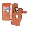 BAOHU Uitneembare Leder Hoesje iPhone 12 - Pro Cognac