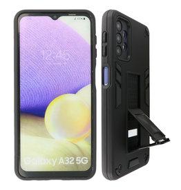 Stand Hardcase Backcover Samsung Galaxy A32 5G Zwart