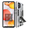Stand Hardcase Backcover Samsung Galaxy A42 5G Zilver