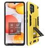 Stand Hardcase Backcover Samsung Galaxy A42 5G Geel