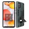 Stand Hardcase Backcover Samsung Galaxy A42 5G Donker Groen