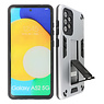 Stand Hardcase Backcover Samsung Galaxy A52 5G Zilver