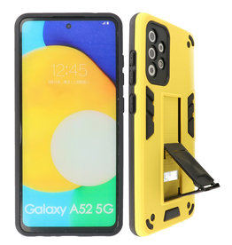 Stand Hardcase Backcover Samsung Galaxy A52 5G Geel