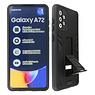 Stand Hardcase Backcover Samsung Galaxy A72 5G Zwart